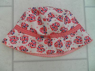 Pretty Girls Monsoon Cotton Summer Sun Hat Age 6-8 or 8-10 Years VGC