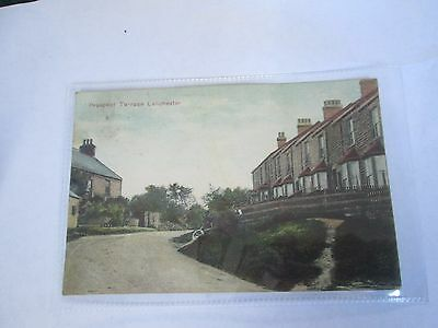 Postcard of Prospect Terrace, Lanchester (Derwentshire) posted 1904