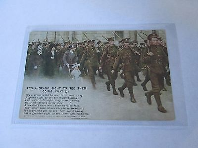 Postcard of It's A Grand Sight to see them going away (2) No 4903/2 Bamforth