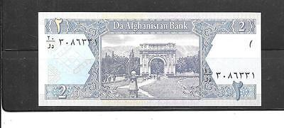 AFGHANISTAN #65a 2002 UNC MINT 2 AFGHANIS BANKNOTE BILL NOTE PAPER MONEY