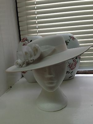 Wedding hat Mother of the bride Races Ascot hat Nude neutral colour matches any