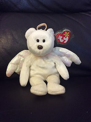 Original ty beanie baby Rare Halo Bear (Brown Nose & Numbered)