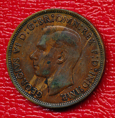 1940 United Kingdom Bronze Large Penny **km #845** About Uncirculated!