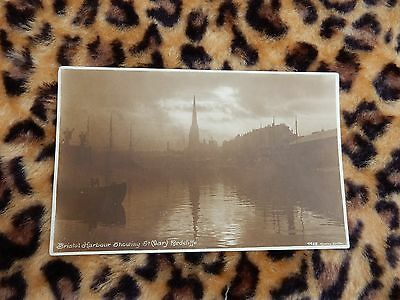 Early postcard - dusky harbour scene  - Bristol