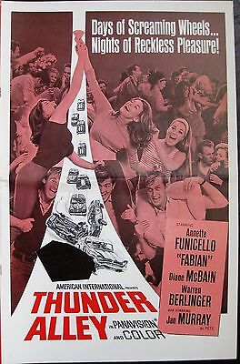 Thunder Alley 1967 Fabian Annette Funicello Original US Press Book