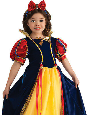 Disney Snow White Girls Enchanted Princess Fancy Dress Up Halloween Costume S-M