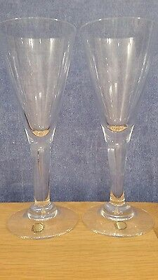 Dartington FT115 Sharon Glasses x 2 19 cm tall