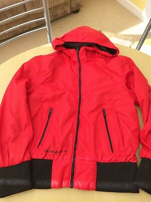 Boys Light Hooded jacket. Red Herring - Red.  Age 10