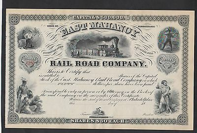 19xx East Mahanoy Railroad Co. Stock Certificate ABNC