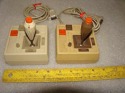 2 APPLE IIe VINTAGE COMPUTER CH PRODUCTS JOYSTICK GAME CONTROLLERS