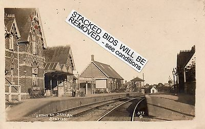 UPTON ON SEVERN. RAILWAY STATION (Mid.Ry.) real photo postcard Good condition
