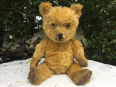 Interesting British Vintage Mohair Teddy Bear-Lovely Condition-C.1940-16""