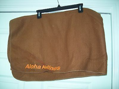 Vintage Aloha Airlines Brown Blanket