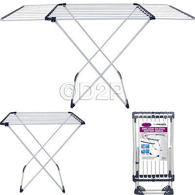 18 Metre Deluxe Cloth Clothes Airer Dryer Horse Rack Indoor Outdoor New Laundry