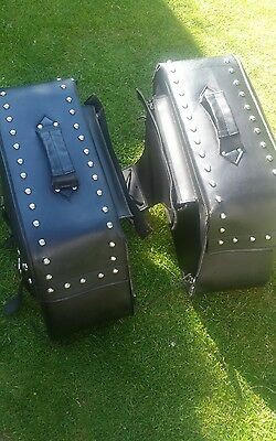 X2 Motorcycler Saddle Bag Panniers Motorbike Saddlebags Travel Luggage