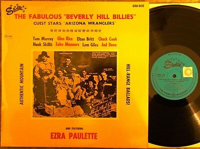 "The Fabulous ""beverly Hill Billies"" Lp  (Uk, Starlite Recs Lp, Ex Cond)"