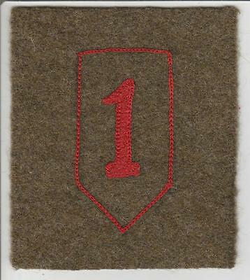 WW 1 US Army 1st Division Patch Inv# S124