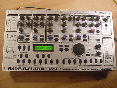 Quasimidi Rave-O-Lution 309 Synthesizer With Manual And Free Uk Ups Shipping