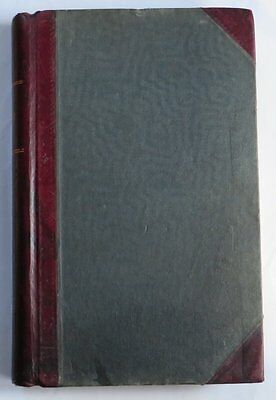 """Lovely Vintage Ledger Account Book Red Leather Spine & Corners 8.5 X 13"""""""