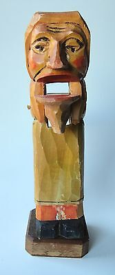 Vintage Wood Carved Old Man/ Old Lady NUTCRACKER Figure