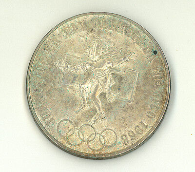 1968 Mexican Twenty Five (25) Peso Silver Olympic Games Coin