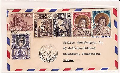 Vatican City 1954 Express Cover