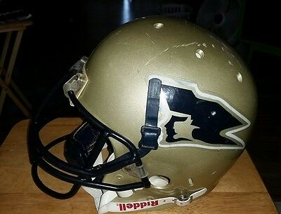 SCHUTT AIR ADVANTAGE Adult Football Helmet Large Gold  Game Used w/ Facemask