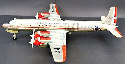 Rare Cragstan Yonezawa battery operated American Airlines plane with stewardess