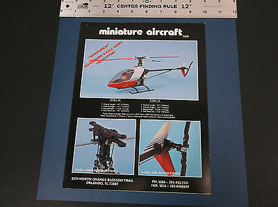 Vintage Miniature Aircraft Supply Helicopter Brochure *g-Cond*