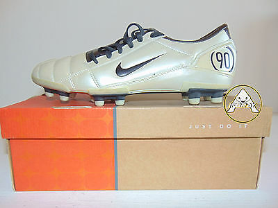 Vintage NIKE Total 90 III FG Scarpe Calcio 47 Soccer Shoes Boots 13 Old Bianco 3