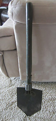 Vintage Military Folding Shovel Wood Handle