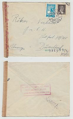Turkey Old Cover Istanbul To Germany 1943 !!