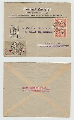 Turkey Old Cover Istanbul Registered Mail Austria 1932 !!