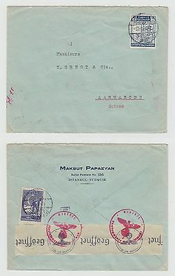 Turkey Old Cover Entente Balkanique Istanbul To Germany Censor 1941 !!