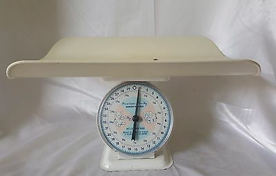 Vintage American Family Nursery Scale up to 30 lbs Pink & Blue