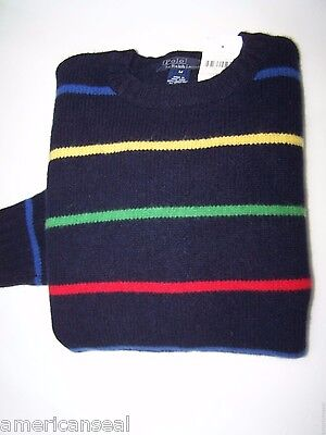 Nwt Polo Ralph Lauren Unisex Lambswool Sweater, Kid Size M, $64.99