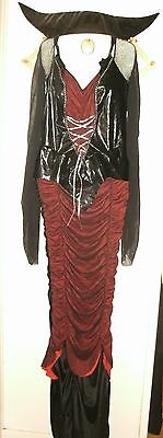Mistress Of The Night Halloween Costume Godyssey By Diguise Size 12-14