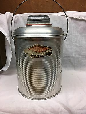 Vintage Atlas Faris Thermos Insulated Aluminum Picnic Jug Thermal Glass
