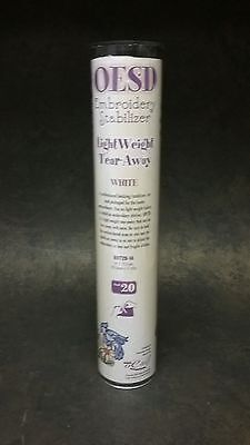 """OESD Embroidery Stabilizer Light Weight Tear Away White Item # 20 14"""" x 12.5 yds"""