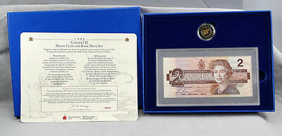 Royal Canadian Mint Issue 1996 Proof $2 Coin & Replacement Bank Note Set!