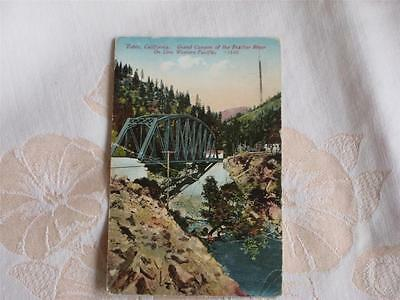 Antique Pc Grand Canyon Of Feather River, On Line Western Pacific, Tobin, Ca
