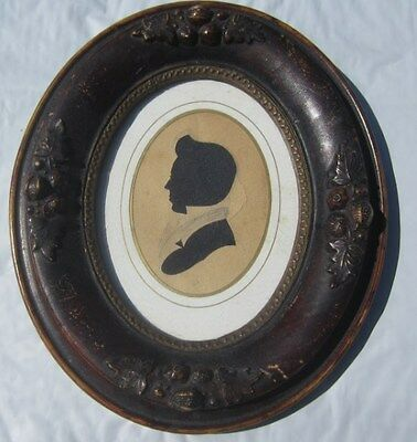 Early 1800s Silhoutte In Antique Wood Frame NC VA Southern