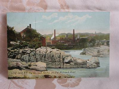 Old Pc Ragged Rocks, Mohawk River, Industrial Area, Little Falls, New York