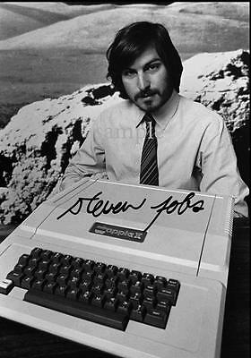Steve Jobs Autographed Photo Picture Reprint Signed 8X10 Christmas Gift Rp
