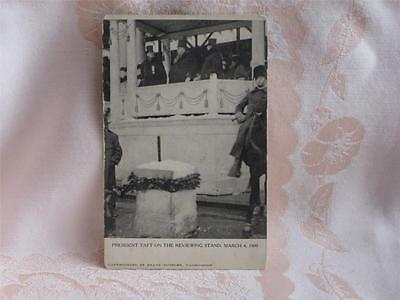 Antique Pc B&w Pic President Taft On Reviewing Stand, March 4, 1909