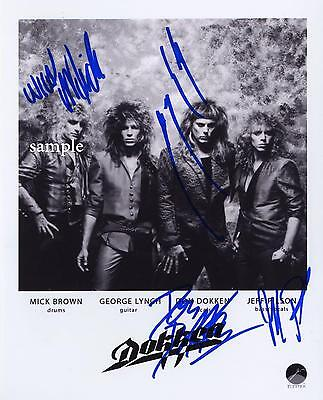 Dokken Band Autographed Photo Reprint Picture Signed 8X10 Christmas Gift Rp