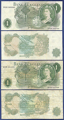 England Replacement 1 Pound Notes Page