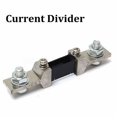 200A 75mV DC Analog Current Meter Divider Shunt Resistor for Amp Meter Ammeter