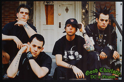 Rare Vintage 2002 Good Charlotte Poster Dc's Finest Rock Music Promo Mint - W22