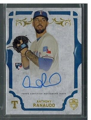 2015 Topps Supreme Anthony Ranaudo Rc Auto Autograph On Card